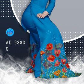 Vải Áo Dài Hoa Poppy Nhẹ Nhàng giá sỉ