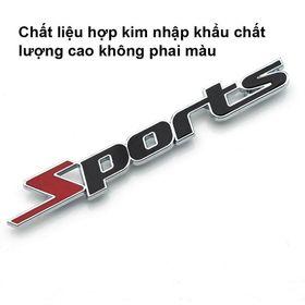 Tem chữ Sports kim loại dán ô tô ( giá sỉ