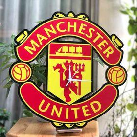 Đồng Hồ Treo Tường Gỗ Khắc Hình Logo CLB Manchester United -MU giá sỉ
