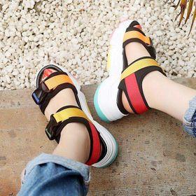 sandal đế độn 7 màu giá sỉ
