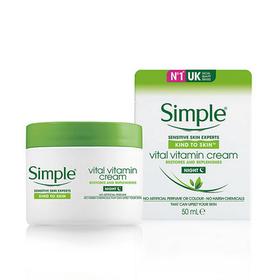 Kem dưỡng ẩm Simple Kind To Skin Vital Vitamin Night Cream 50ml giá sỉ