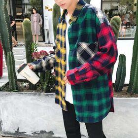 áo sơ mi flannel phối màu Mã: NM610 giá sỉ