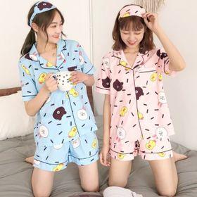 Bộ ngủ pijama tay ngắn quần đùi mẫu mới nhất giá sỉ