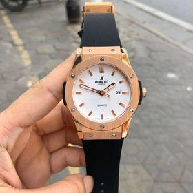 Đồng hồ nam HB vỏ vàng máy Quartz giá sỉ