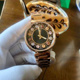 Đồng hồ nữ L.V. vỏ vàng đá 7 màu cao cấp giá sỉ