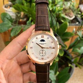Đồng hồ nam Vancheron vỏ vàng mặt trắng giá sỉ