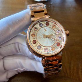 Đồng hồ nữ L.V. Vỏ vàng mặt trắng cao cấp giá sỉ
