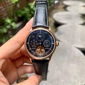 Đồng hồ nam Vancheron vỏ vàng mặt đen giá sỉ