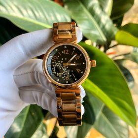 Đồng hồ L.V. vỏ vàng mặt đen giá sỉ