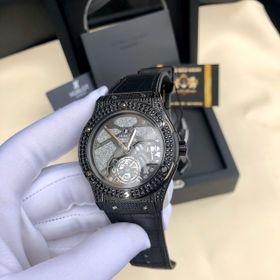 Đồng hồ nam HB vỏ đen Full kim cương nhân tạo đen giá sỉ