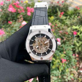 Đồng hồ nam HB vỏ trắng viền đá tấm trắng giá sỉ