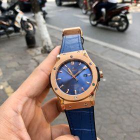 Đồng hồ nam HB vỏ vàng dây xanh giá sỉ