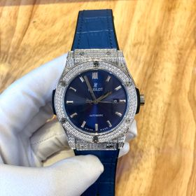 Đồng hồ nam HB vỏ trắng máy cơ Nhật Full kim cương nhân tạo giá sỉ