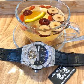 Đồng hồ nam HB vỏ trắng Full đá kim cương giá sỉ