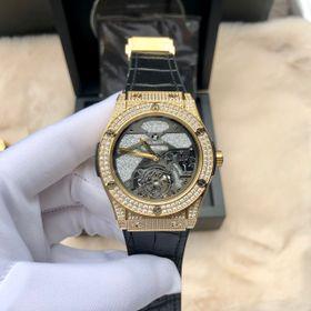 Đồng hồ nam HB vỏ vàng lộ cơ Full kim cương giá sỉ