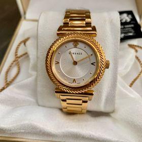 Đồng hồ nữ Versaces vỏ vàng mặt trắng dây kim loại giá sỉ