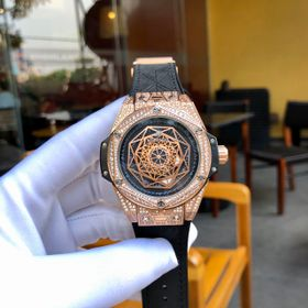 Đồng hồ cơ nam HB Big Bang Sang Bleu Full Diamond King Gold giá sỉ