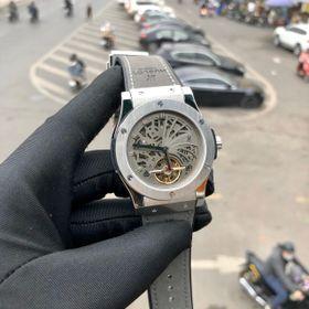 Đồng hồ nam HB vỏ trắng Skeleton cao cấp giá sỉ