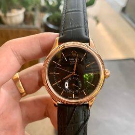 Đồng hồ nam Rolexx vỏ vàng mặt đen cao cấp giá sỉ
