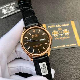 Đồng hồ nam Rolexx vỏ vàng mặt đen giá sỉ
