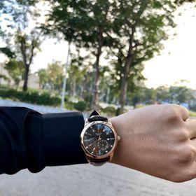 Đồng hồ nam Rolexx vát cạnh vỏ vàng mặt đen giá sỉ