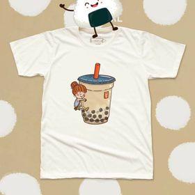 Áo in hình ly trà sữa giá sỉ