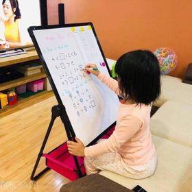 Bảng học sinh - Bảng vẽ 2 mặt xoay 360 độ Tặng bút, phấn, tẩy cho bé giá sỉ