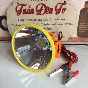 Đèn đội đầu kẹp bình ắc quy 12V ánh sáng vàng giá sỉ