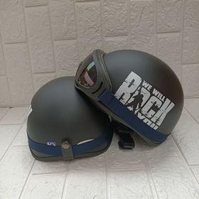 SLL mũ bảo hiểm đi phượt kèm kính uv 1 màu giá sỉ