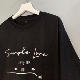 Áo thun phản quang Simple love giá sỉ