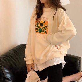 Áo hoodie sweat in bông cúc giá sỉ, giá bán buôn giá sỉ