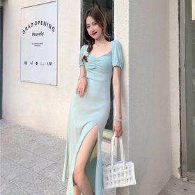 Váy phông dài xẻ đùi quyến rũ cho nữ ( mã 25 ) giá sỉ