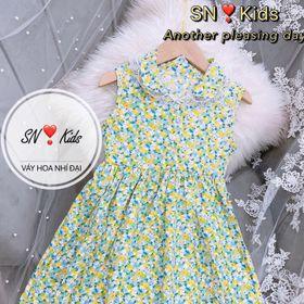 Váy hoa nhí cho bé size từ 10-25kg giá sỉ
