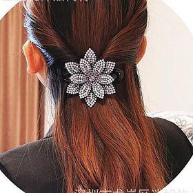kẹp tóc Hàn Quốc kiểu mỏ vịt,đá đính trên da siêu nhẹ giá sỉ