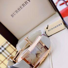 Đồng hồ nữ BURRBERI THE PIONEER SQUARE CASE ROSE GOLD TONE #BU9408 giá sỉ