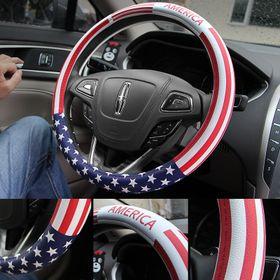 Bọc vô lăng ô tô cờ Mĩ giá sỉ