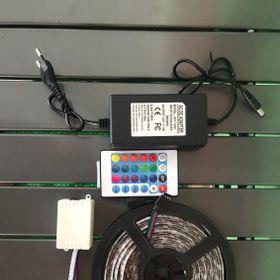 Led cuộn 5m RGB đổi nhiều màu có remot điều khiển adapter giá sỉ