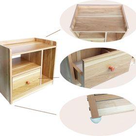 Kệ gỗ đầu giường 3 ngăn lắ ghép giá sỉ