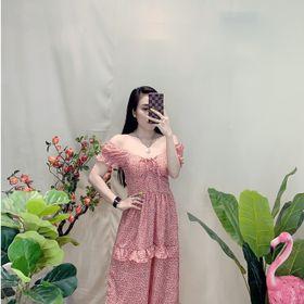 Đầm hoa rút ngực giá sỉ