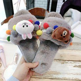dép lông mang trong nhà hình gấu hàng Quảng châu giá sỉ