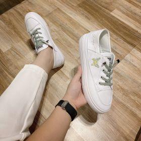 Giày Bata màu trắng đơn giản giá sỉ