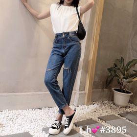 Quần jeans kiểu rách gối giá sỉ