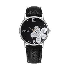 Đồng hồ nữ dây da mặt hoa đính đá sành điệu giá sỉ