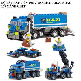 Bộ lắp ráp biến đổi 3 trong 1 xe giao hàng Kazi 6409 5.0 giá sỉ