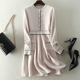 Váy len xòe dài tay giá sỉ