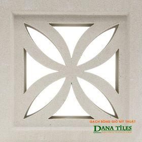 Gạch bông gió Danatiles DANA-D04 trắng giá sỉ