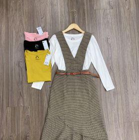 Sét váy yếm dạ giá sỉ
