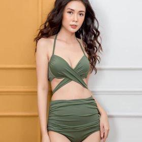 Bikini Nữ Hai Mảnh Cạp Cao Freesize BHV019 giá sỉ