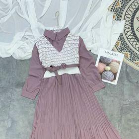 Sét váy cổ bẻ giá sỉ