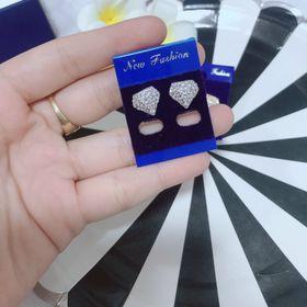 Bông tai diamond full xoàn xi cao cấp giá sỉ
